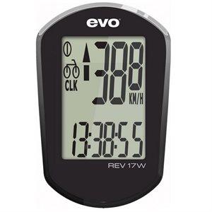 Cyclometre EVO, REV17W sans fil, Noir